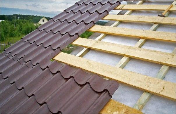 Крыша из металлочерепицы 2