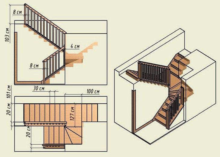 Как выполнить расчет лестницы на второй этаж