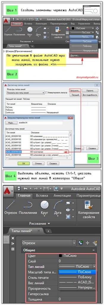 Настройка типов линии для AutoCAD