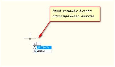 Текст в AutoCAD