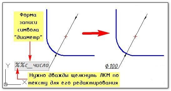 Как в Автокаде поставить диаметр 2