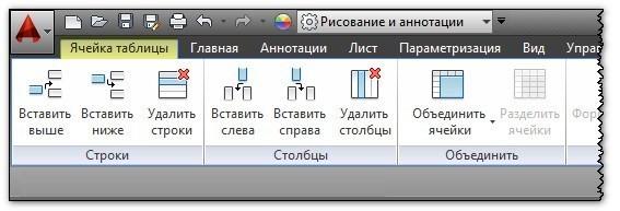 Как редактировать таблицу в Автокаде 2