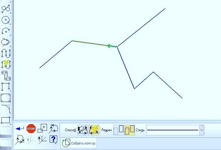 Построение контуров в KOMPAS 3D 2