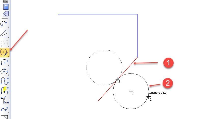 Построение отрезков и дуг в KOMPAS 3D 13