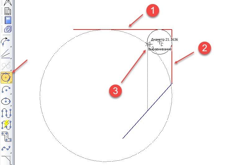Построение отрезков и дуг в KOMPAS 3D 14