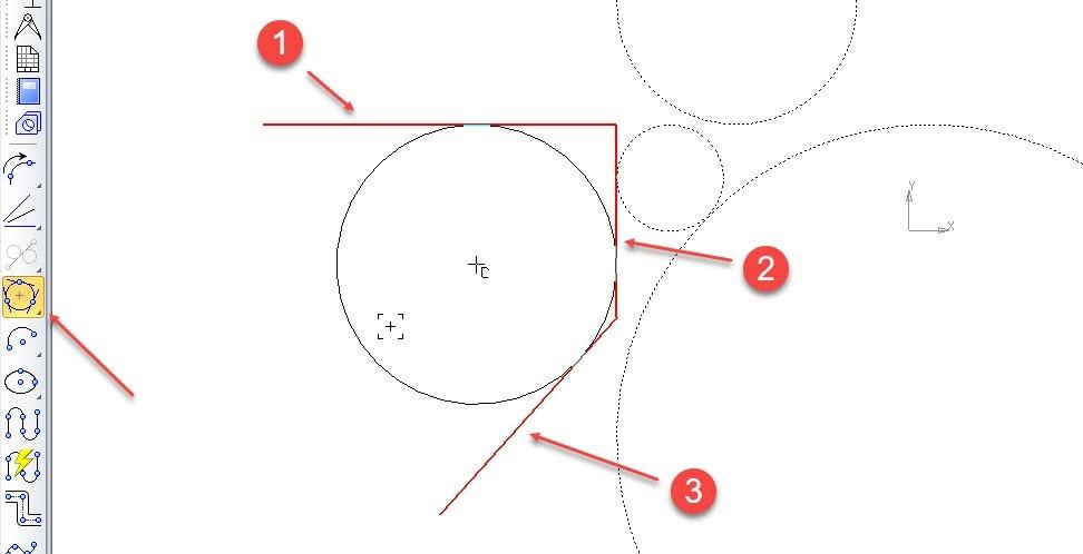 Построение отрезков и дуг в KOMPAS 3D 15