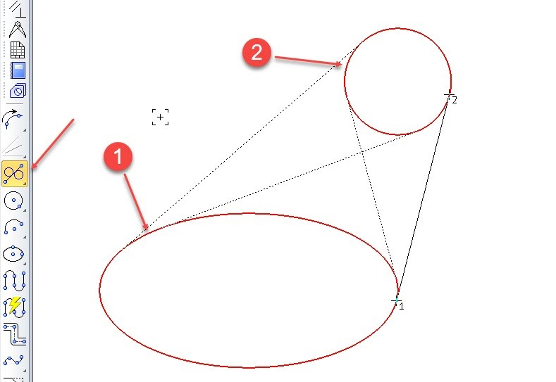 Построение отрезков и дуг в KOMPAS 3D 7