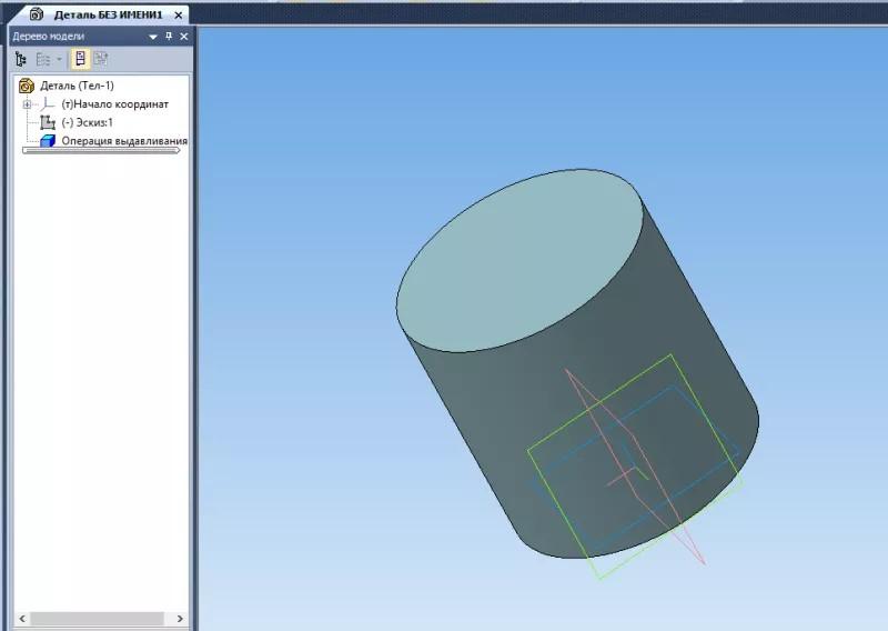 Построение паза, массив и изгиб деталей в KOMPAS 3D 1