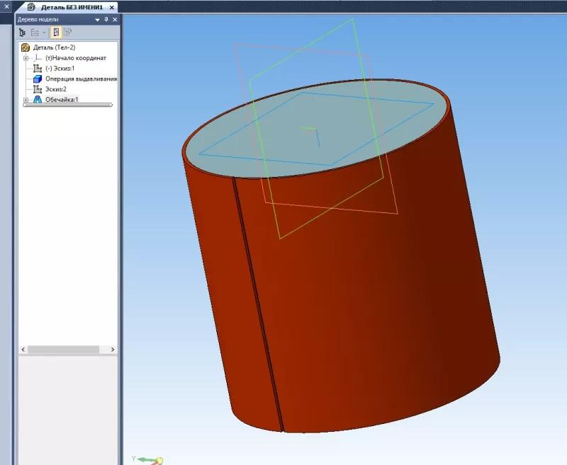 Построение паза, массив и изгиб деталей в KOMPAS 3D 3