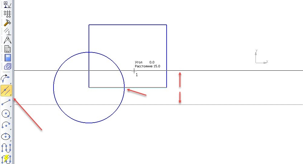 Построение точек и вспомогательных линий в КОМПАС-3D 6