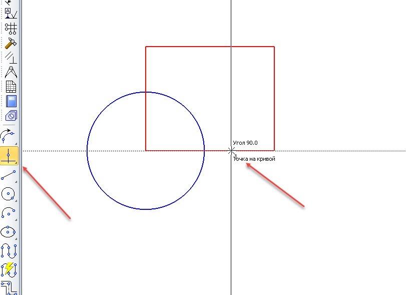 Построение точек и вспомогательных линий в КОМПАС-3D 7