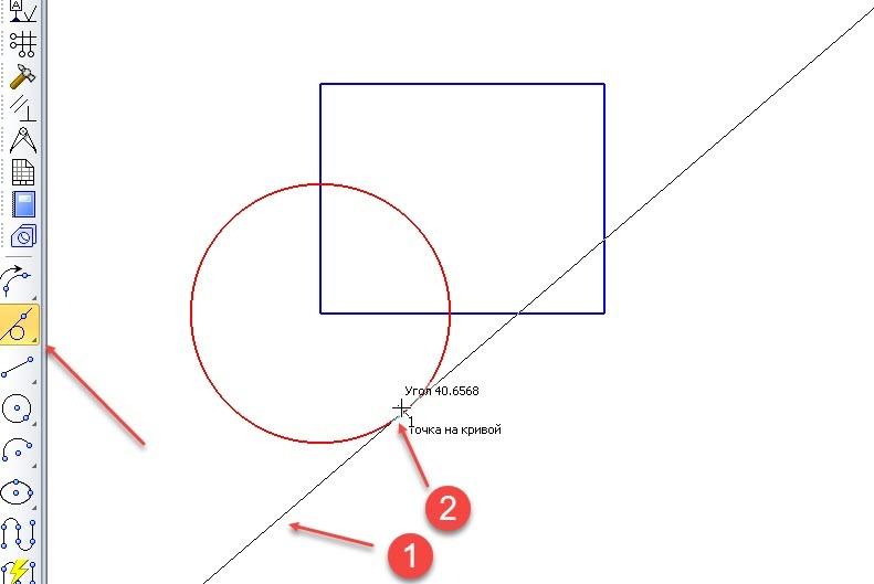 Построение точек и вспомогательных линий в КОМПАС-3D 8