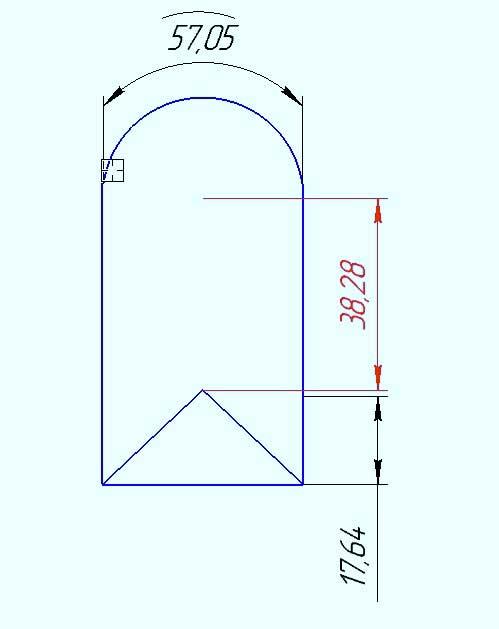 Простановка диаметральных и радиальных размеров 14