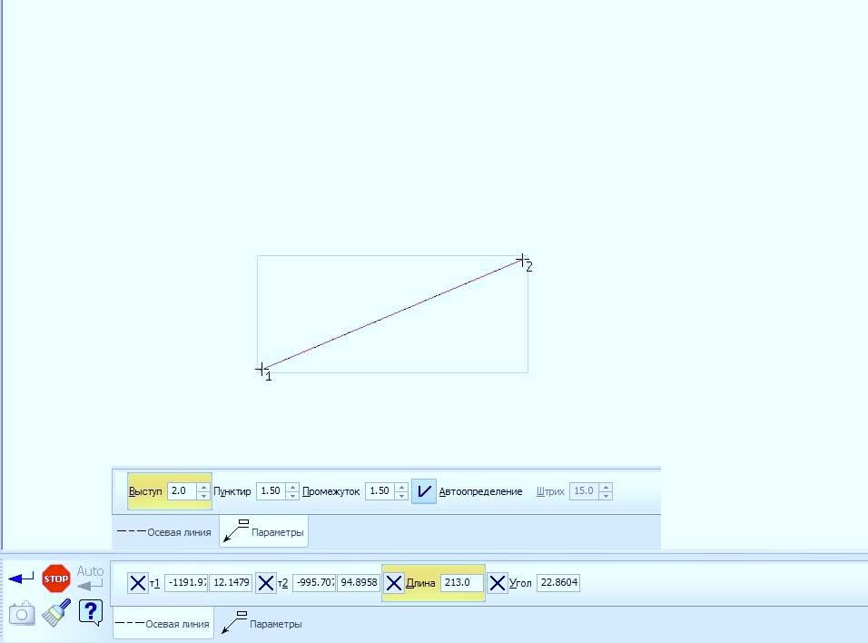 Простановка линий в KOMPAS 3D 2