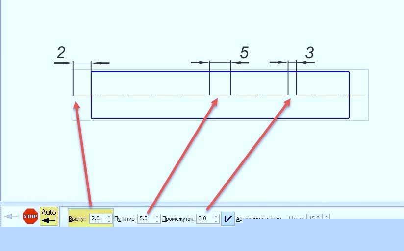 Простановка линий в KOMPAS 3D 3