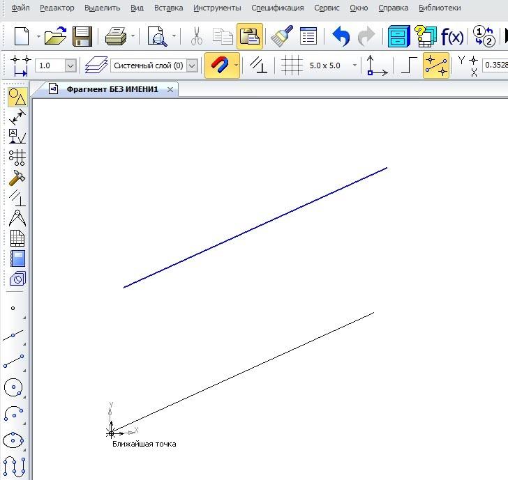 Сетка и системы координат в КОМПАС-3D 10