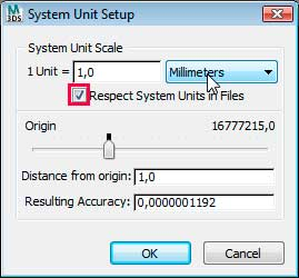 Настройка системных единиц System Unit Setup