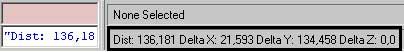 Результат измерения отображается в строке состояния в 3ds Max