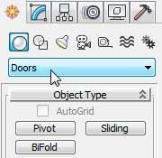 Построение объектов группы Doors в 3ds Max