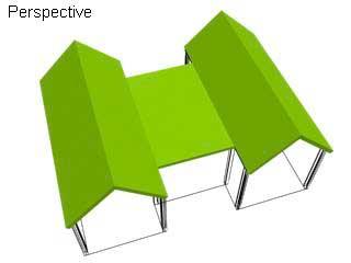 Сегмент крыши в 3ds Max. Walls в 3ds Max