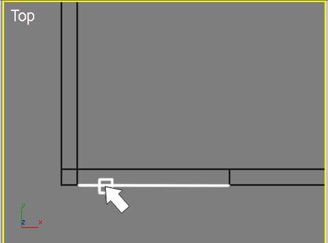 Привязка окна к внешней грани стены в 3ds Max