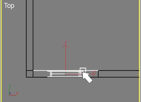 Привязка окна к внутренней грани стены в 3ds Max