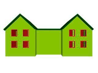 Окна с противоположной и обратной стороны дома. в 3ds Max