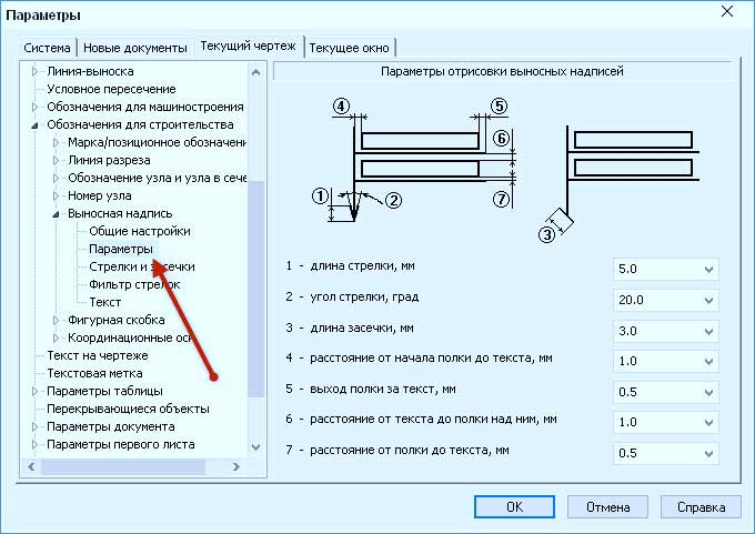 Настройка оформления чертежа по СПДС 18