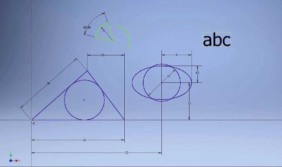 Редактирование эскизов в Autodesk Inventor 4