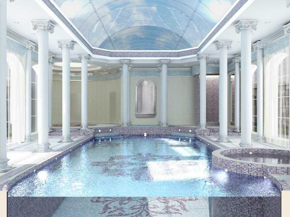 Оформления бассейнов в дворцовом стиле