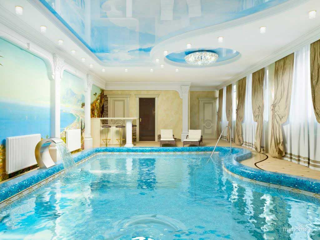 Оформления бассейнов в классическом стиле