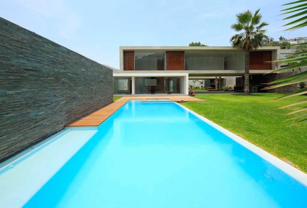 Оформление бассейна в стиле минимализма