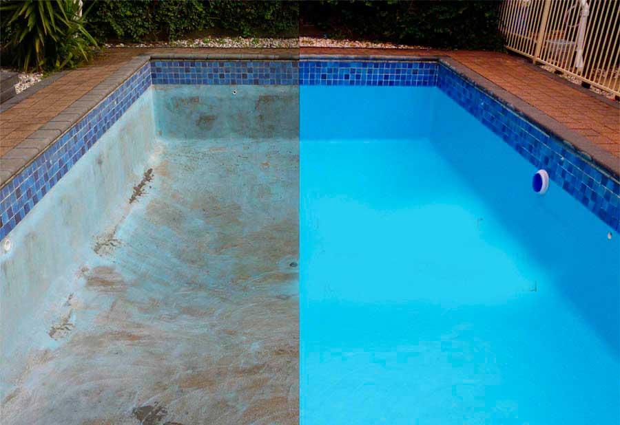 Покраска бассейна