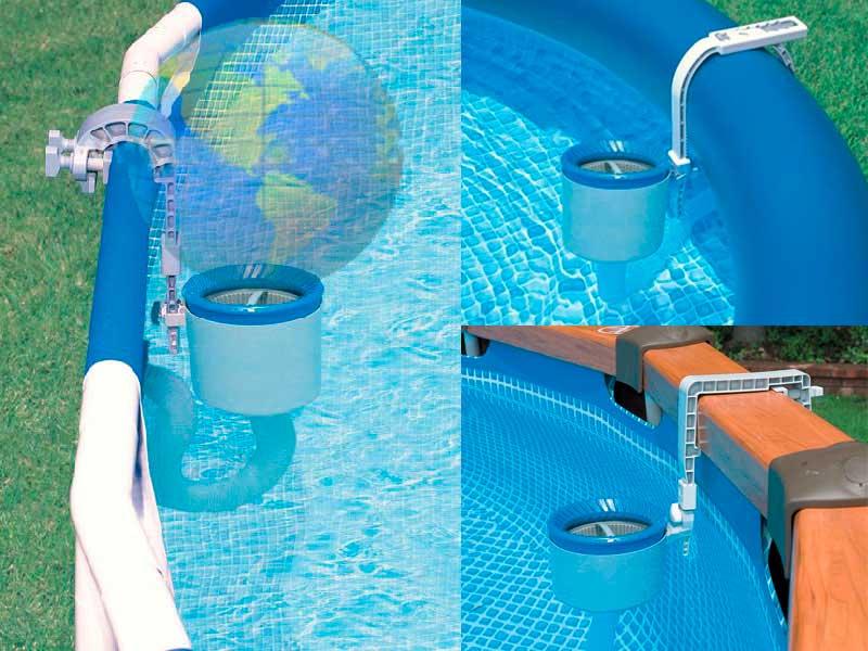 Установка скимеров для бассейна