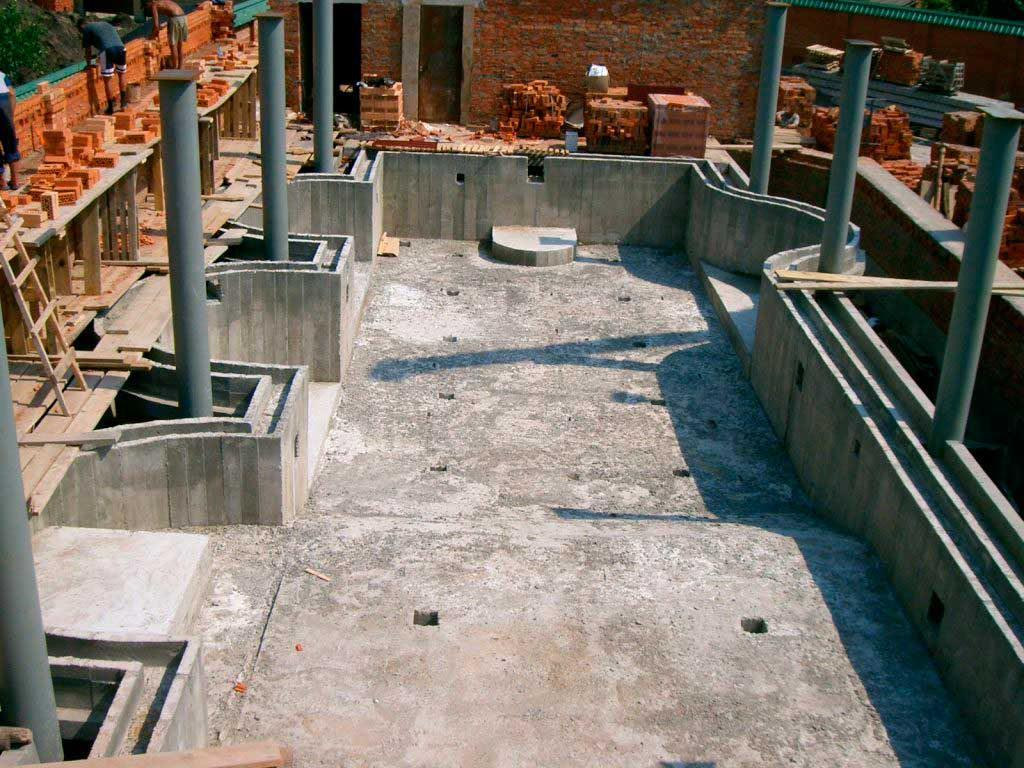Клеевой метод оштукатуривания бассейнов