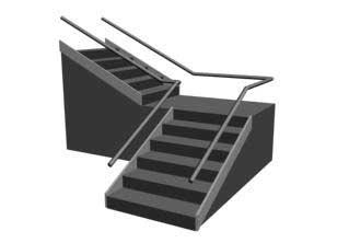 LTypeStair Лестница с разворотом 90 градусов в 3ds Max