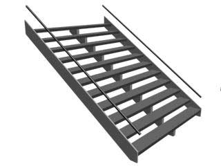 StraightStair Прямая лестница в 3ds Max