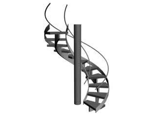 SpiralStair Винтовая лестница в 3ds Max