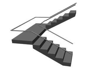 UTypeStair Лестница с разворотом 180 градусов в 3ds Max