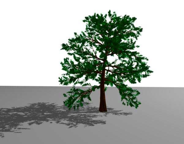 Вид дерева при визуализации в 3ds Max
