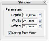 Свиток Stringers боковины в 3ds Max