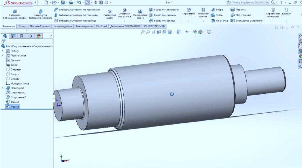 Построение-детали-в-SolisWorks-14