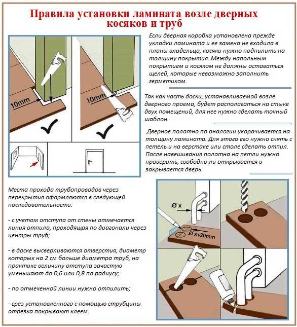 Правила установки ламината