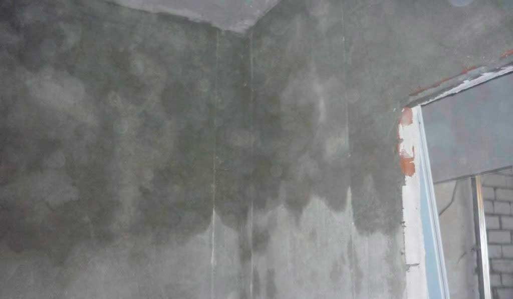 Высыхание штукатурки на стенах