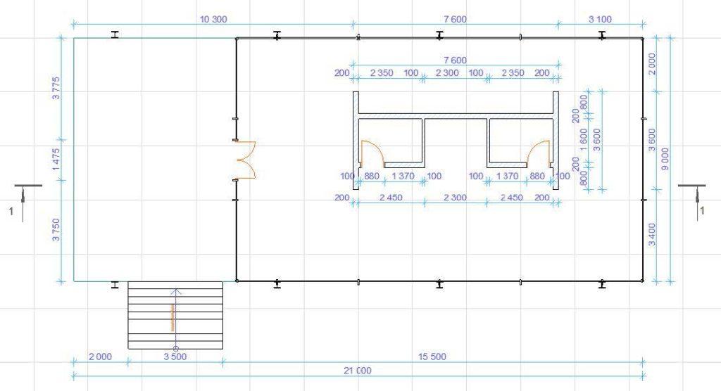 Нанесение размеров в ArchiCAD-10
