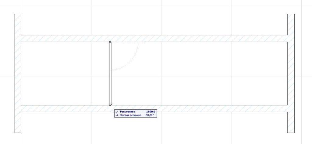 Создание внутренних стен в ArchiCAD-13
