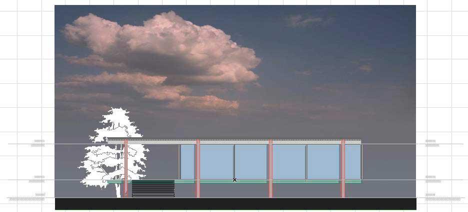 Создание разрезов, фасадов, вставка изображений и объектов в ArchiCAD-13