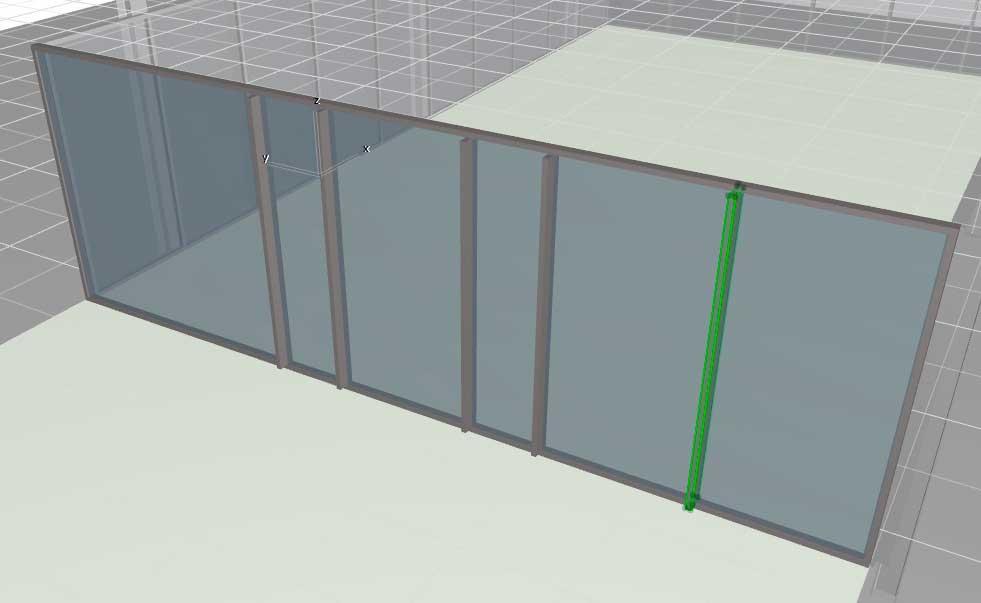 Навесные стены в ArchiCAD-15