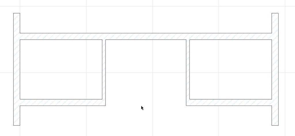 Создание внутренних стен в ArchiCAD-15