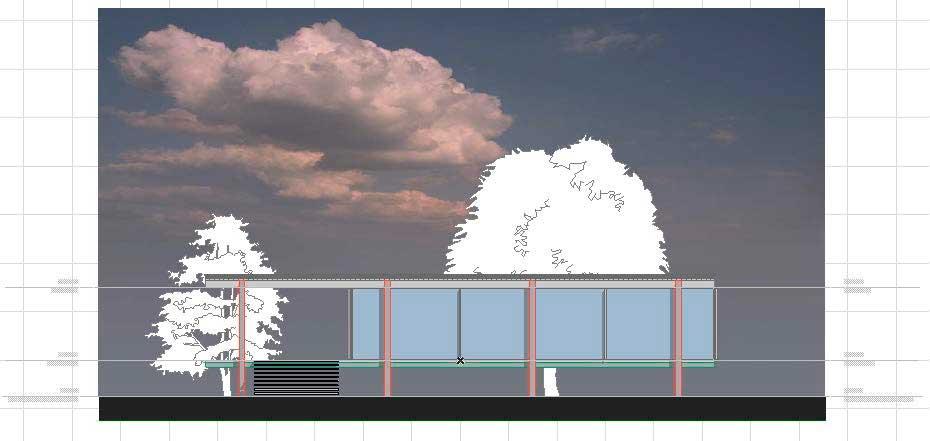 Создание разрезов, фасадов, вставка изображений и объектов в ArchiCAD-15